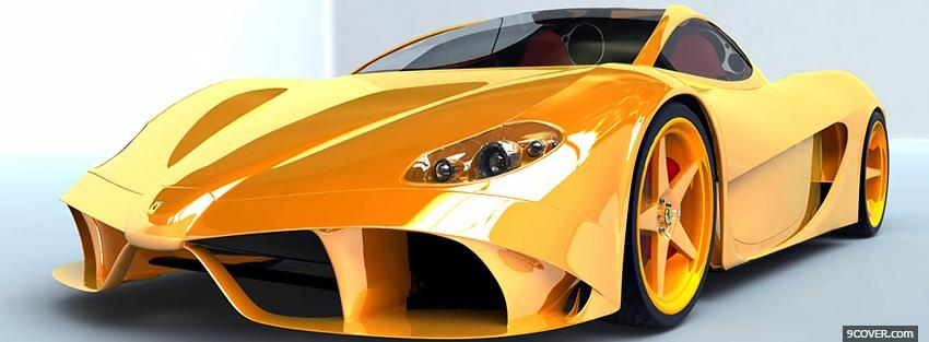 Photo yellow luxurious sports car Facebook Cover for Free