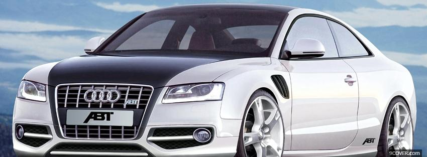 Photo audi a5 abt car Facebook Cover for Free