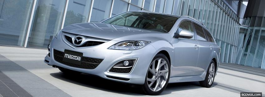 Photo mazda 6 silver car Facebook Cover for Free