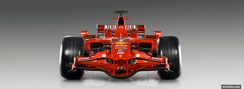 Photo ferrari f1 car Facebook Cover for Free