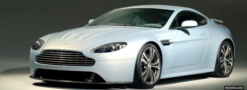 Photo front view aston martin car Facebook Cover for Free