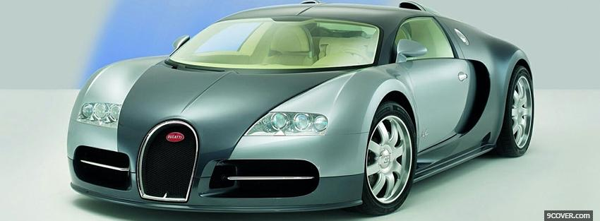 Photo car bugatti veyron Facebook Cover for Free