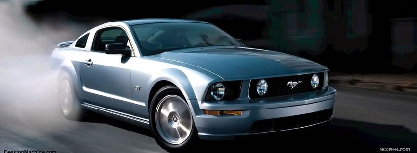 Photo 2005 ford mustang car Facebook Cover for Free