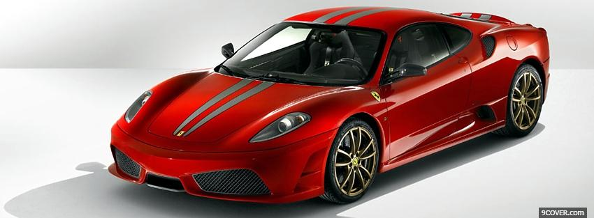Photo front view of ferrari 430 scuderia Facebook Cover for Free
