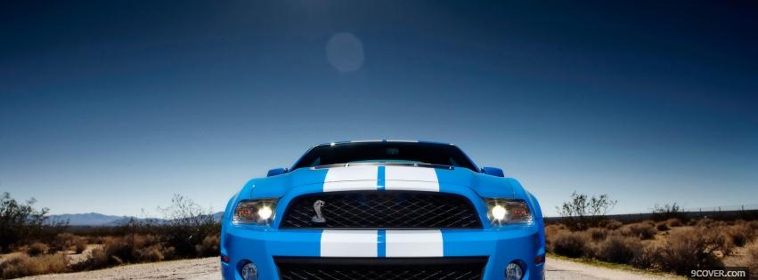 Photo 2010 shelby car Facebook Cover for Free