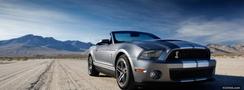 Photo ford shelby 2010 Facebook Cover for Free