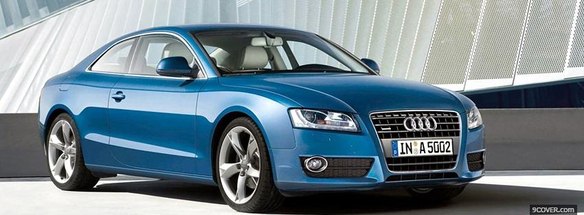 Photo blue audi a5 Facebook Cover for Free