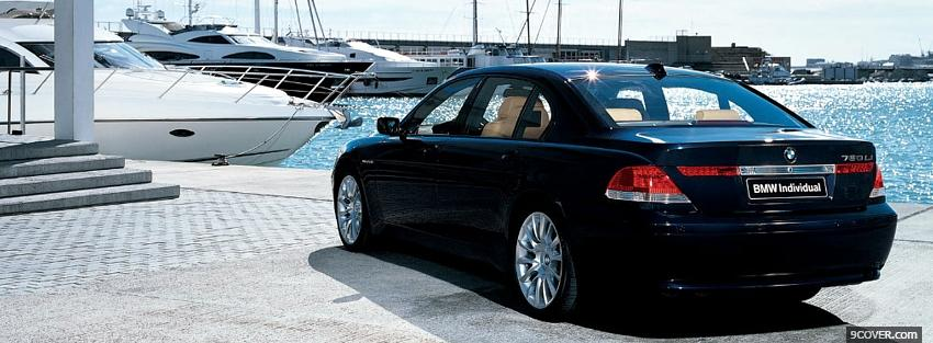 Photo bmw 7 and boat Facebook Cover for Free