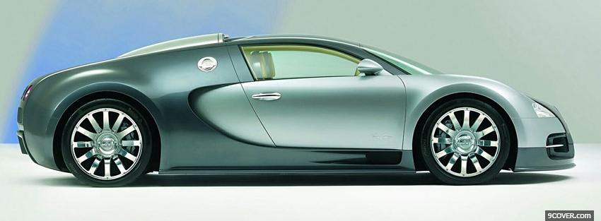 Photo bugatti veyron side Facebook Cover for Free