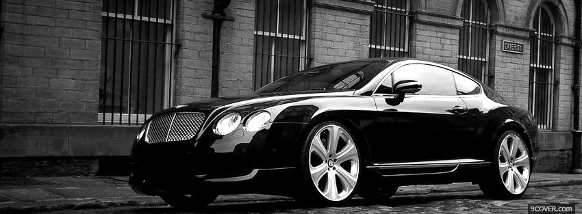 Photo black bentley continental car Facebook Cover for Free