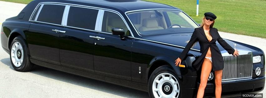 Rolls Royce Phantom Limo Photo Facebook Cover