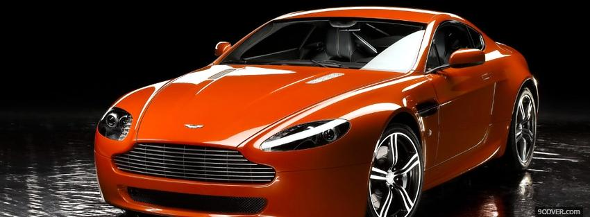 Photo orange aston martin vantage Facebook Cover for Free