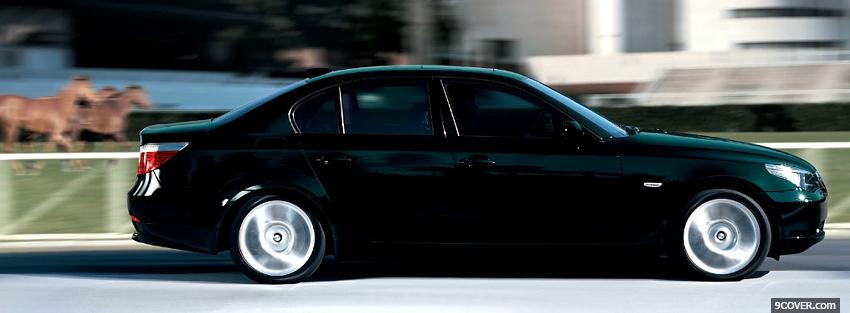 Photo bmw 5 series individual car Facebook Cover for Free