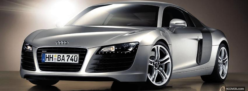 Photo silver audi r8 car Facebook Cover for Free