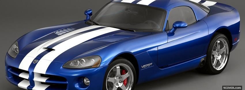 Photo blue and white dodge viper Facebook Cover for Free