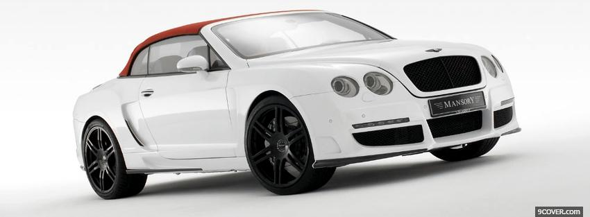 Photo white bentley mansory Facebook Cover for Free