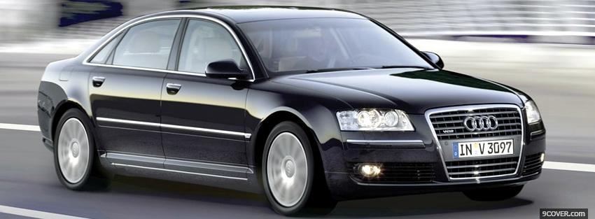 Photo black audi a8 car Facebook Cover for Free