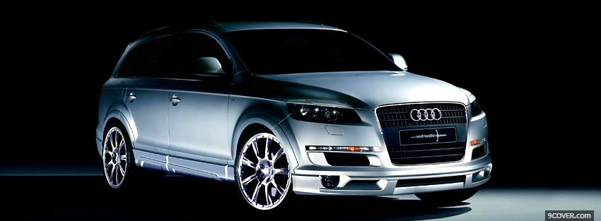 Photo q7 silver audi car Facebook Cover for Free