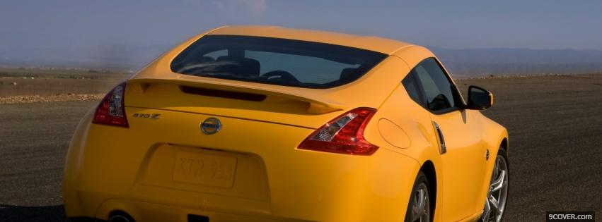 Photo yellow nissan car Facebook Cover for Free