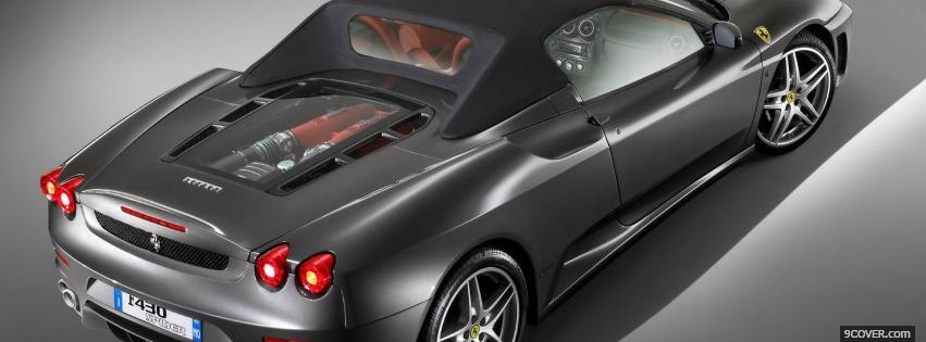 Photo ferrari f430 spider back Facebook Cover for Free