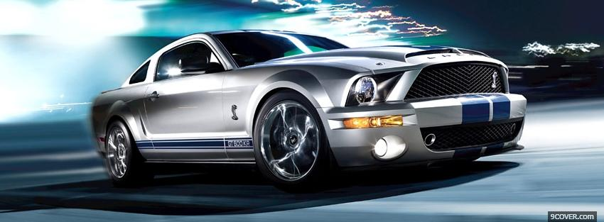 Photo ford mustang shelby gt 500 Facebook Cover for Free