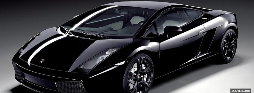Photo lamborghini gallardo nera car Facebook Cover for Free