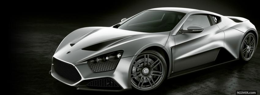 Photo zenvo st1 car Facebook Cover for Free