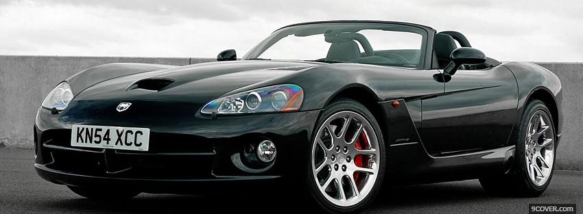 Photo black viper srt 10 car Facebook Cover for Free