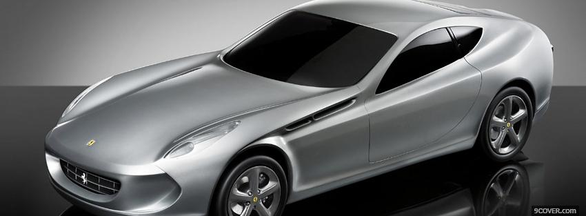 Photo new silver ferrari Facebook Cover for Free
