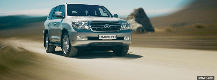 Photo outside land cruiser car Facebook Cover for Free