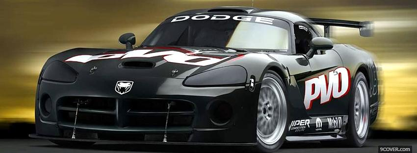 Photo black dodge viper car Facebook Cover for Free
