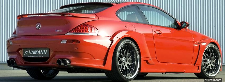 Photo red bmw m6 hamann Facebook Cover for Free