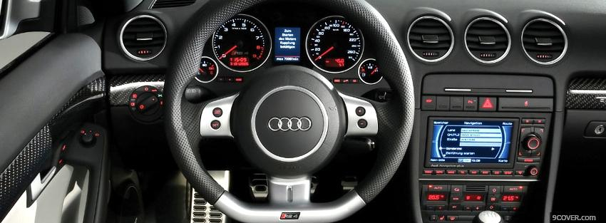 Photo audi rs4 interior car Facebook Cover for Free