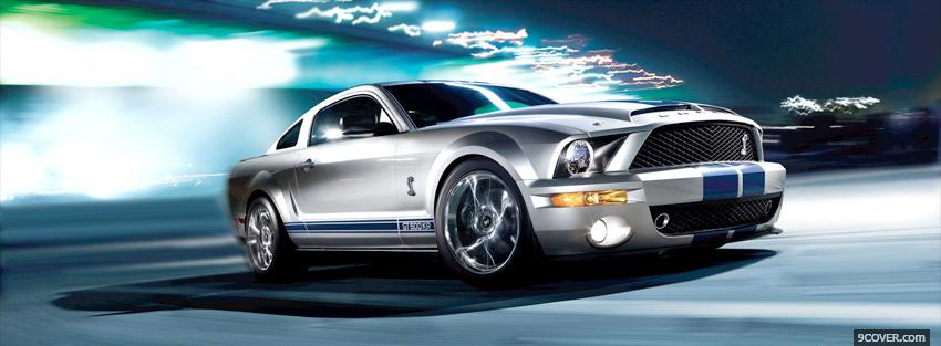 Photo ford mustang shelby car Facebook Cover for Free