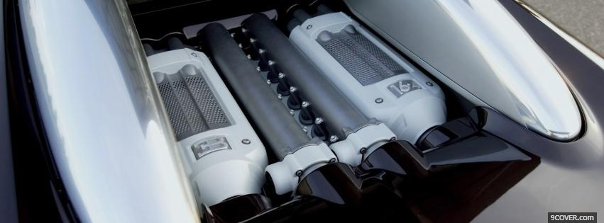 Photo bugatti engine Facebook Cover for Free