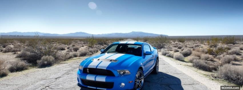 Photo ford mustang in the desert Facebook Cover for Free