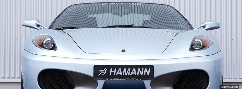 Photo front of ferrari hamann Facebook Cover for Free