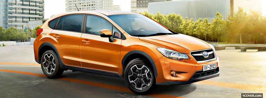 Photo orange subaru xv car Facebook Cover for Free