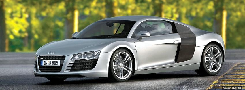 Photo side audi r8 outside Facebook Cover for Free