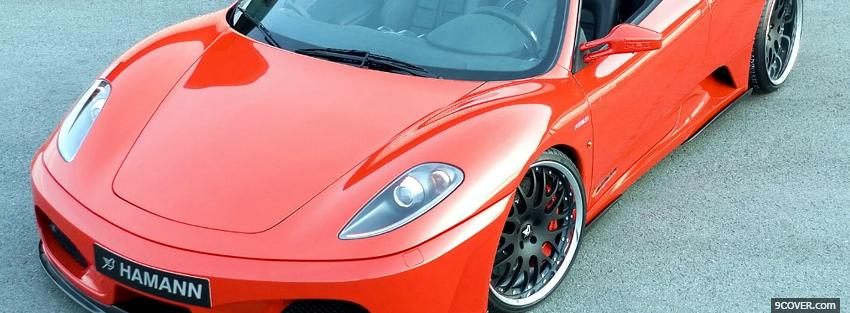 Photo ferrari car f430 spider Facebook Cover for Free