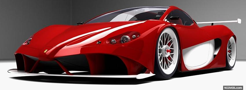 Photo front view of ferrari aurea Facebook Cover for Free
