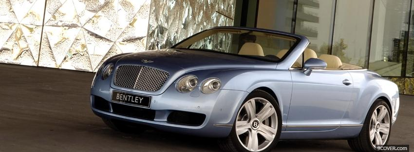 Photo bentley gt convertible car Facebook Cover for Free
