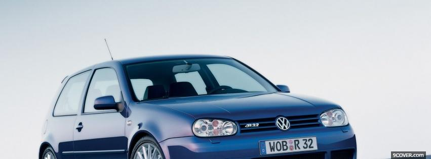 Photo blue volkswagen car Facebook Cover for Free