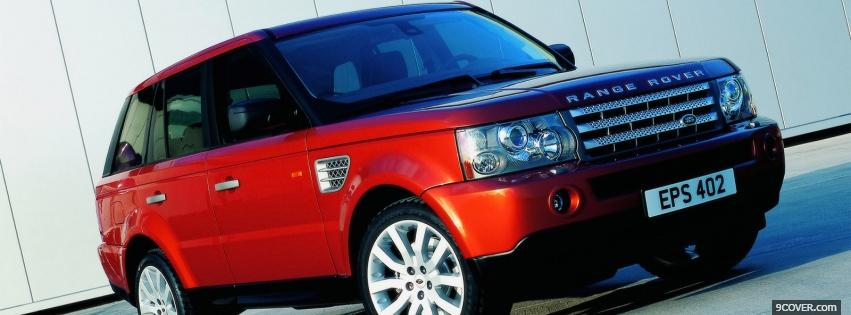 Photo red range rover car Facebook Cover for Free