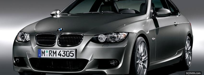 Photo bmw 3 series coupe car Facebook Cover for Free