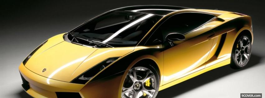 Download Free Lamborghini Gallardo Gold Car Fb Cover