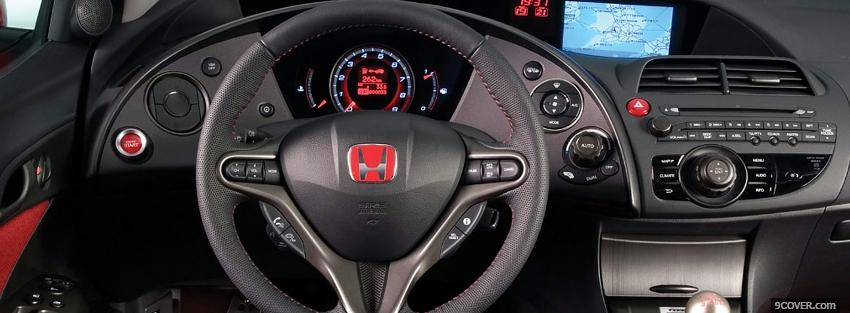 Photo honda civic interior Facebook Cover for Free