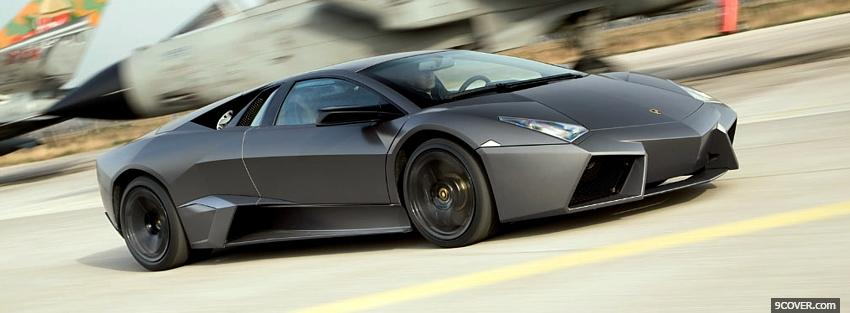 Photo lamborghini reventon car Facebook Cover for Free