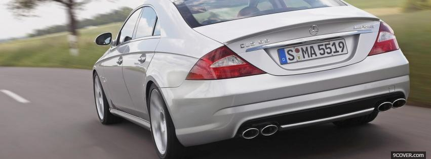 Photo merdedes cls on the road Facebook Cover for Free