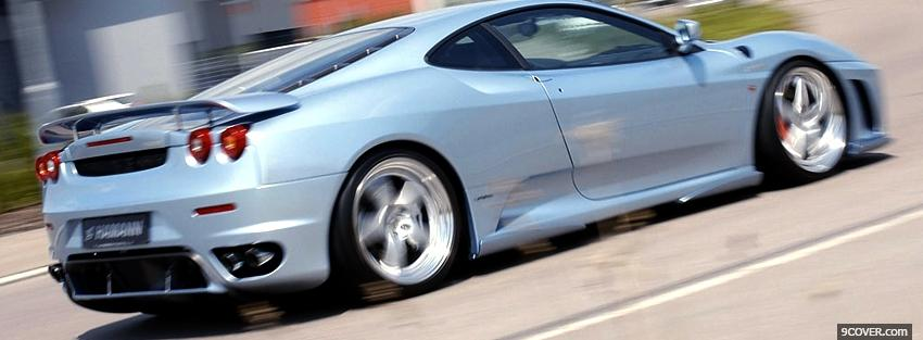 Photo white f430 hamann car Facebook Cover for Free